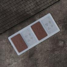 Pochoir de chocolat en forme de Poker   Drôle, moule, outils de décoration de gâteau, feuille de transfert de carte de Poker, Chablon en Silicone