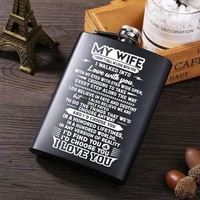to my wife hot sale portable stainless steel hip flask alcohol bottle travel whiskey alcohol liquor bottle flagon male small min