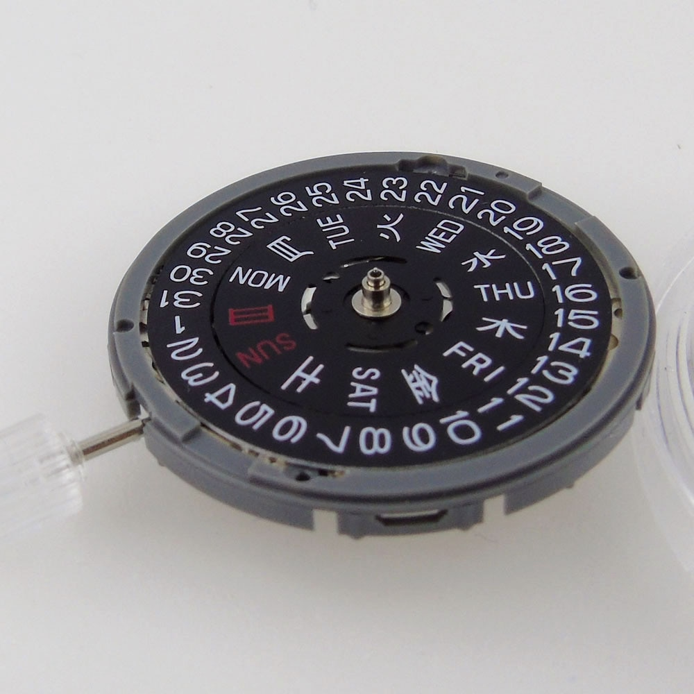 24 Jewels NH36 NH36A Accuracy Automatic Watch Movement Black/White Date Day Wheel High Quality Wristwatch Replacement enlarge