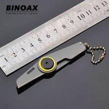 Binoax Mini cuchillo plegable Serge táctico Camping caza llavero bolsillo Bean cuchillos manejar EDC Multi herramientas