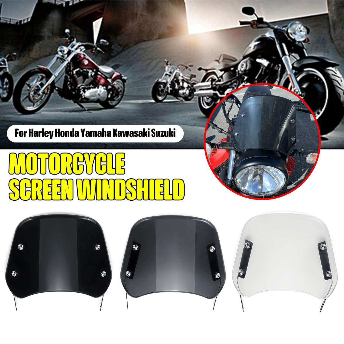 "Faro delantero para motocicleta de 6,5 ""-9,45"", Deflector de viento para parabrisas, faro Universal para Honda yamaha Kawasakis Suzukis"