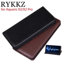 rykkz luxury leather flip cover for bq aquaris x x2 pro 5 65 mobile stand case for aquaris x2 leather phone case cover