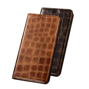 Luxury Flip Calfskin Genuine Leather Credit Card Case For Xiaomi Note 10 Pro/Xiaomi Note 10/Xiaomi Note 10 Lite Phone Case Cover