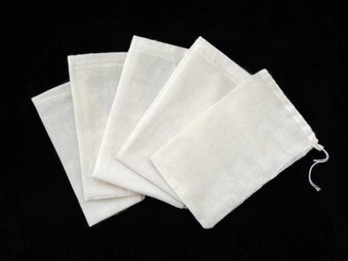 Paquete de 100 3x4 bolsas reutilizables de muselina de algodón con cordón para empaquetar jabón de baño té de hierbas