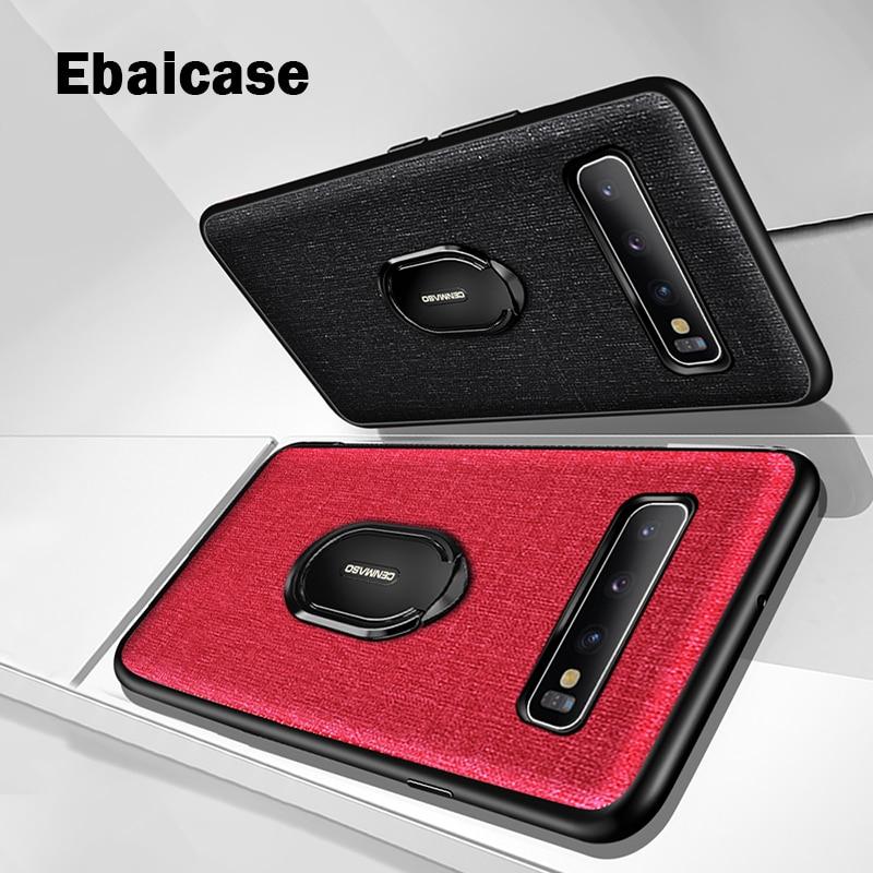 Para Samsung S10 Plus, funda a prueba de golpes con anillo magnético para coche, funda para Samsung Note 10 Plus, funda S10 Plus, funda Anti knoc