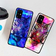 Mignon Hibou Animal Oiseau Aigle Housse Pour Coque Samsung M10 20 30 40 S6 S7 S8 S9 S10 S11 S11E Plus Note8 9 10 Plus Funda Capa