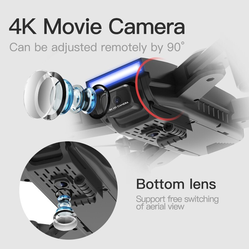 K3 ABS Folding Professional Aerial Photography Drone GPS Quadcopter With Camera HD 4k Follow Me Remote Control Helicopter Toy enlarge