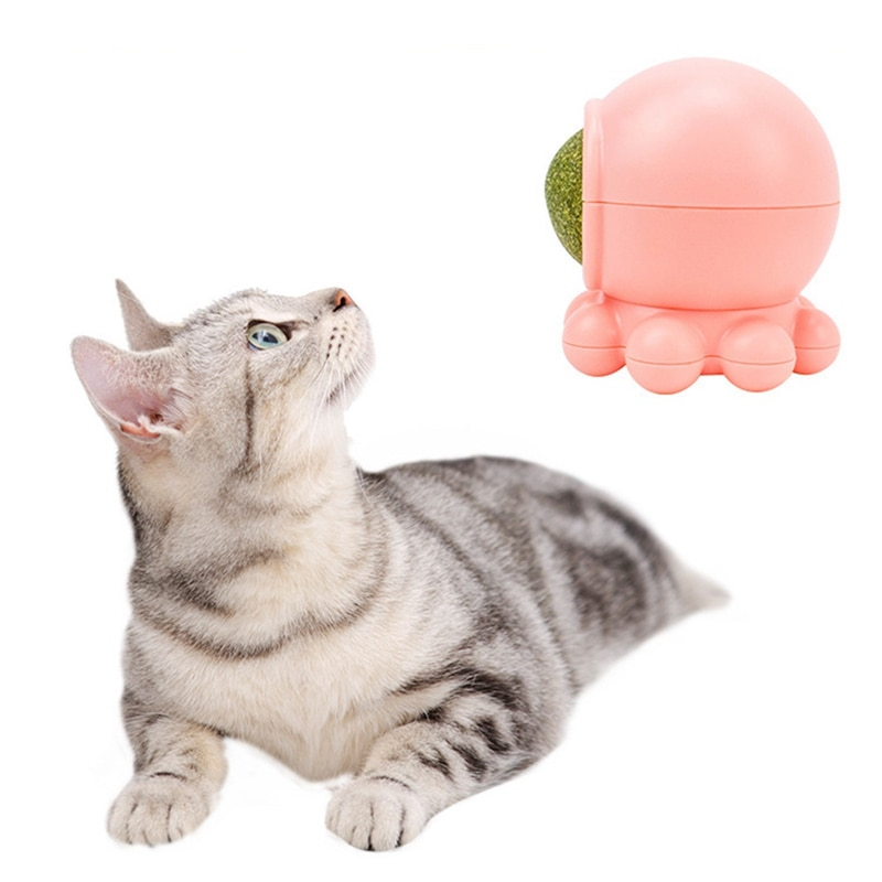 Pet Catnip Toy Edible Nature Catnip Ball Safety Healthy Cat Mint Cats Home Chasing Game Toy Clean Teeth Protect The Stomach