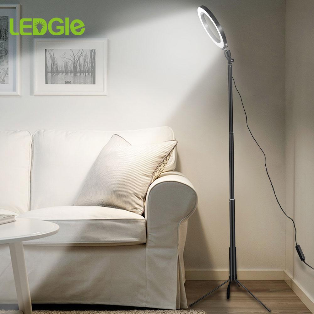 Светодиодный напольный светильник USB кольцевой напольный светильник тренога кольцевой 80 светодиодный напольный светильник для видео YouTube фото кольцевой светильник для макияжа абажур