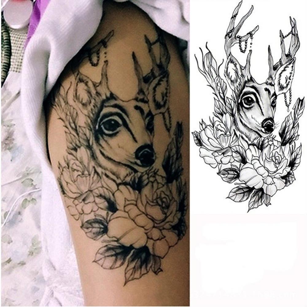 Горячая Распродажа 50% года! Мужские и женские мужские водостойкие тату-наклейки в виде оленя, цветка, руки