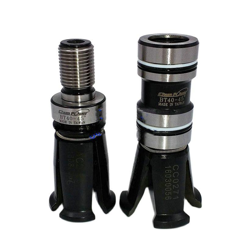 BT30 BT40 BT50 45 درجة Chumpower المغزل أربعة الفص الفك يصعب ارتداء الخارجية/لولبة داخلية