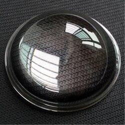 Diâmetro 80mm led vidro óptico de alta temperatura-resistente luz uniformemente aspheric lente