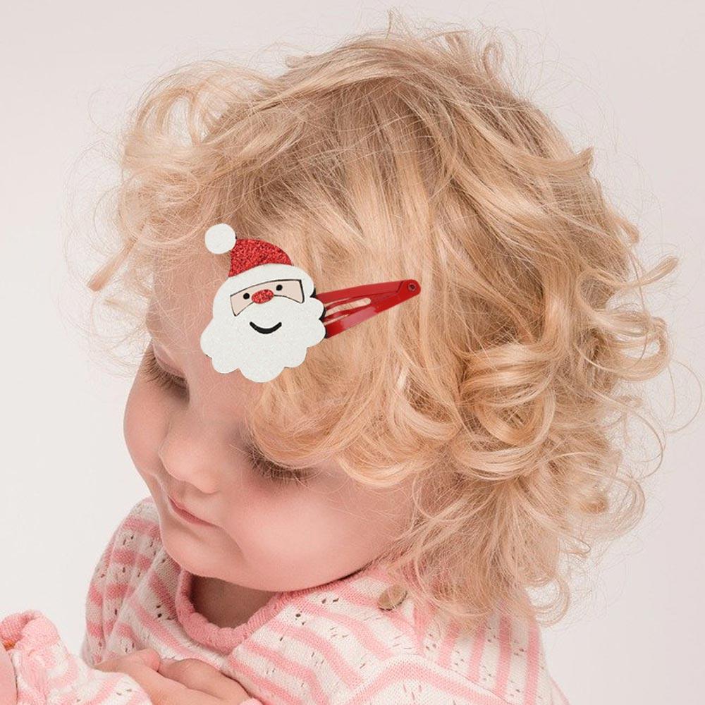 12 unids/set niñas bebé sombrero de Navidad árbol lentejuelas Clips de pelo...