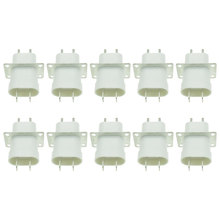 10Pcs Electronic Microwave Oven Magnetron Plug 4 Filament Pin Sockets Converter Home Microwave Oven