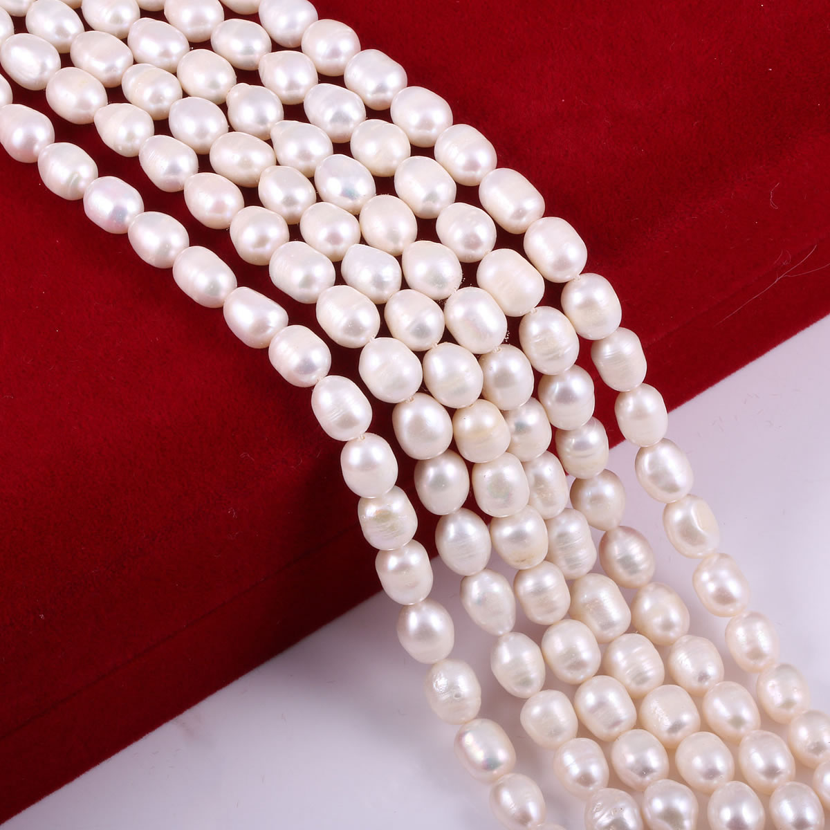Fine 100% Natural Freshwater Pearl Rice Shape Punch Loose Beads For Jewelry Making DIY Charm Bracelet Necklace Accessories Gifts  - buy with discount