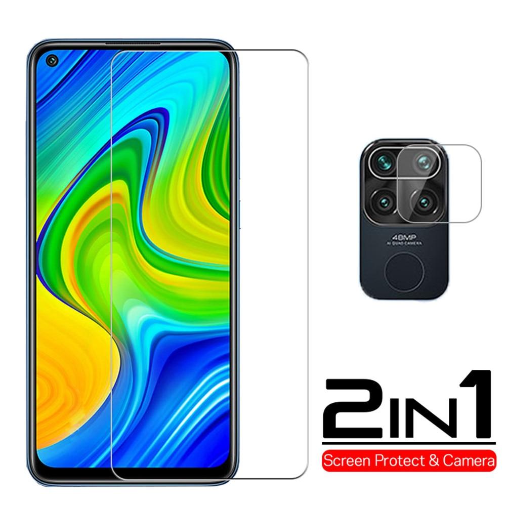 Gehärtetem Glas für Xiaomi Redmi Hinweis 9 7 8 Pro 8T 9A Screen Protector 2 IN 1 Kamera Objektiv film auf Redmi Hinweis 9s 9 8 Pro Max glas