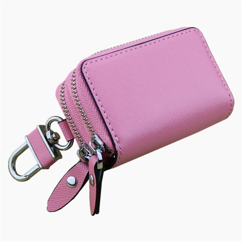 Leather Unisex Key Bag Multifunction Organizer Wallet Holder Housekeeper Car Small Key Case Keys Pou