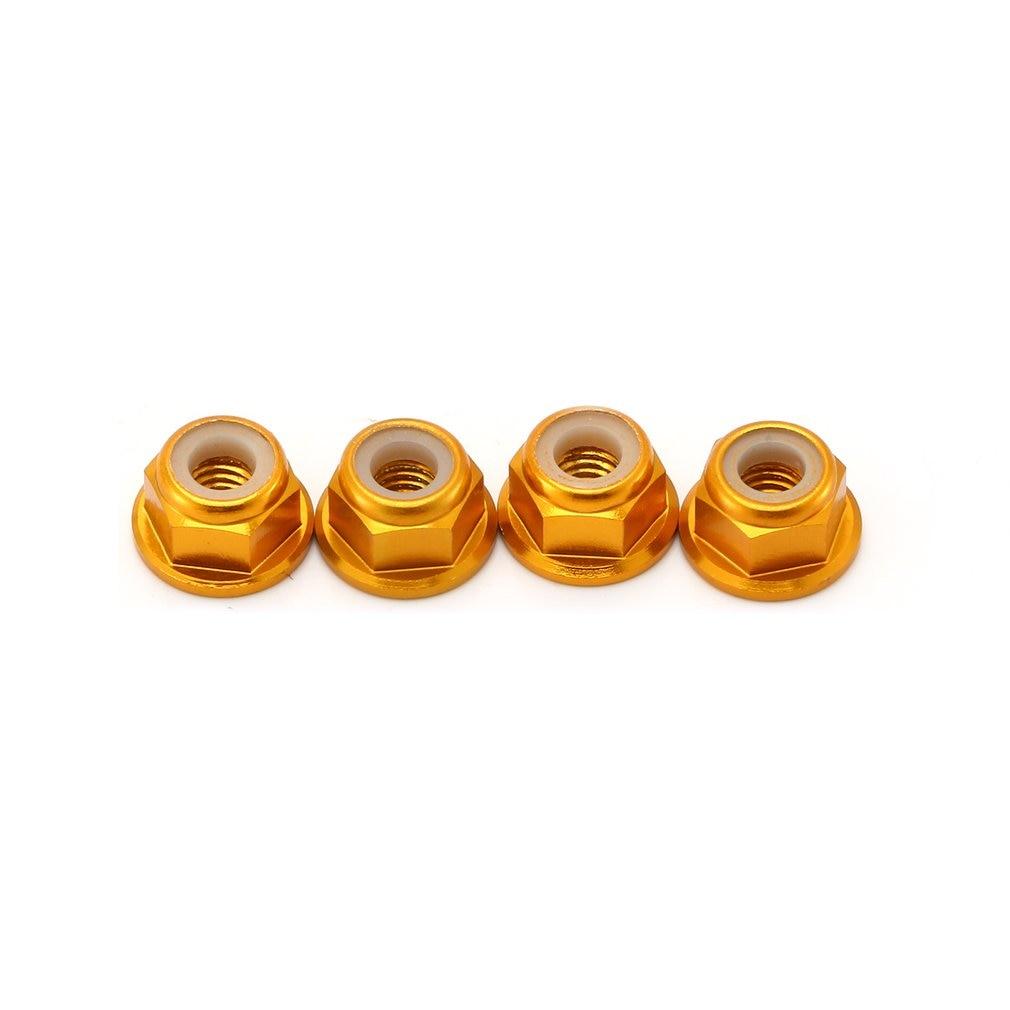 Tuercas de bloqueo de rueda de coche RC juego de aleación de aluminio/Kit de herrajes de rueda para RC Hobby modelo de coche 1/10 Axial SCX10 oruga