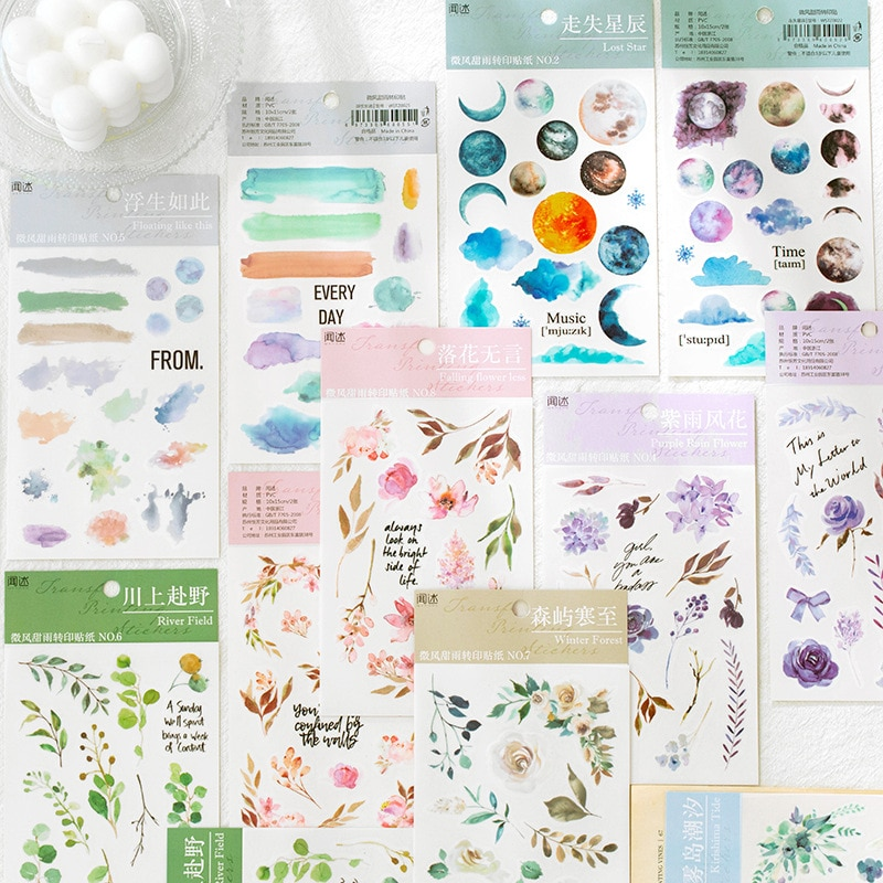 1set/lot Kawaii Stationery Stickers Fresh plant Diary Planner Decorative Mobile Stickers Scrapbooking DIY Craft Stickers