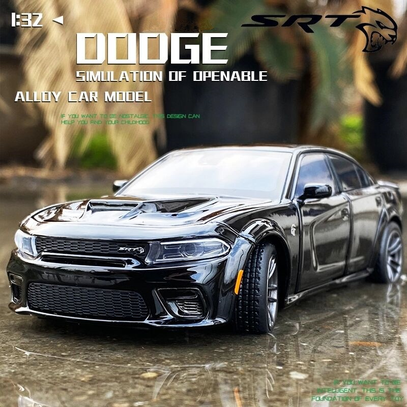 132 dodge charger srt hellcat liga muscular modelo de carro diecastas metal brinquedo