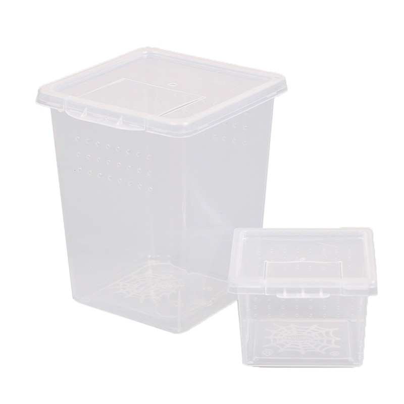 Plastic Insect Spider Habitat Feeding Box Case Container Tank Transport Case