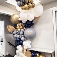 153pcs diy maka grey balloons garland white ballon kit golden globos wedding birthday baby shower party decor