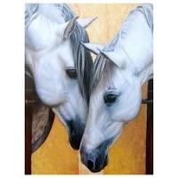 5d diy full diamond diamond painting diamond embroidery animal white horse mosaic decoration christmas furniture christmas gift
