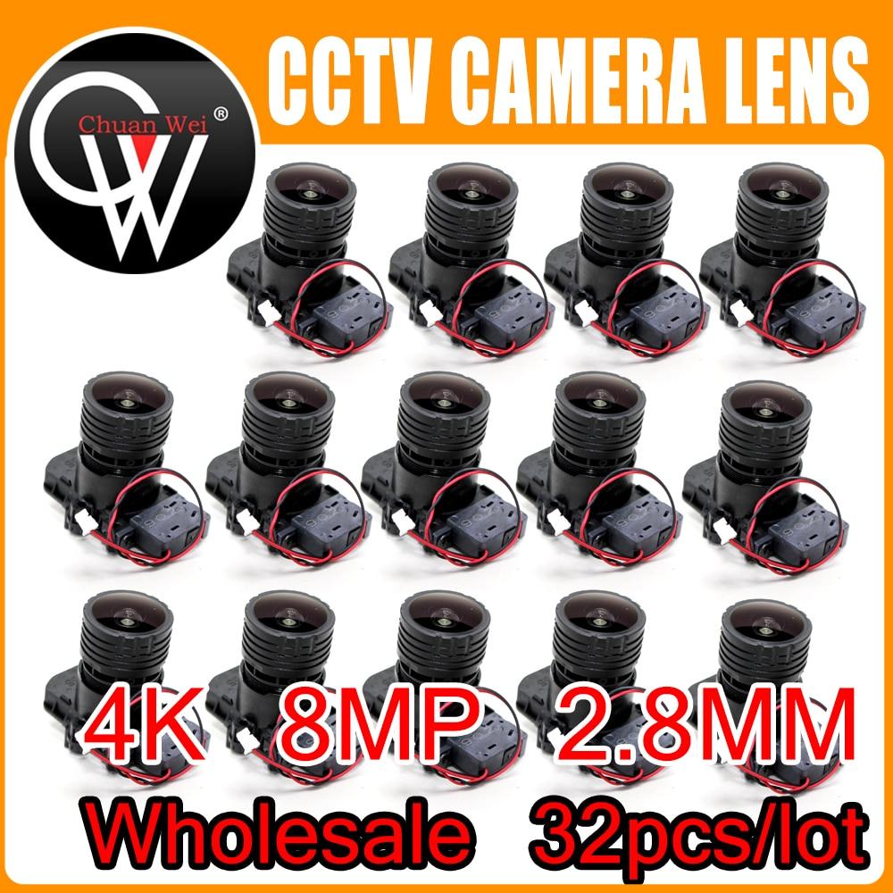 "32 unids/lote 4K HD 2,8mm lente 8MP F0.95 M16 Focal 1/2. 7 ""ir cut + lente para IMX327, IMX307, IMX290, IMX291 Módulo de placa de cámara"