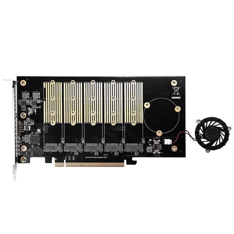 IOCREST-منافذ M.2 NVMe مزدوجة إلى PCIe 3.0 X16 ، وحدة تحكم مصعد تشعب ، تدعم اللوحة الأم بدون تشعب