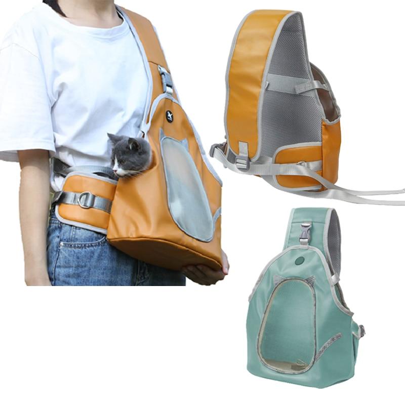 Bolsa portabebés para mascotas, mochila transpirable para gatos, mascotas, pecho, mochila para caminar al aire libre, mascotas, cachorro, perro, bandolera para perro pequeño, gato