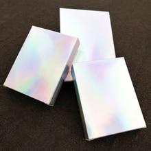 Caja holográfica de papel para fiesta 100 Uds caja de tarjeta láser Cajas de Regalo cajas de cosméticos paquete de lujo Caja de Regalo de Papel Kraft