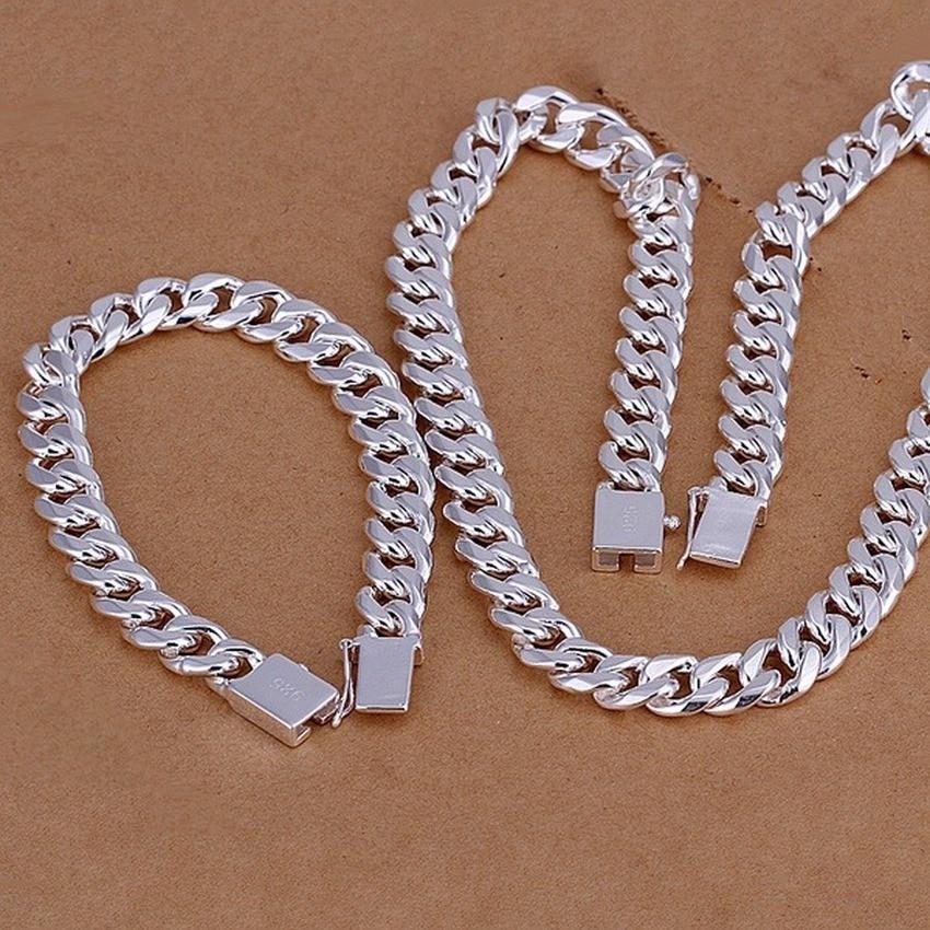 Благородный-925-стерлингового-серебра-прочный-подарок-на-Новый-год-в-ретро-стиле-для-мужчин-10-мм-цепи-20-мм-22-мм-24-дюйма-браслета-и-ожерелья-юв