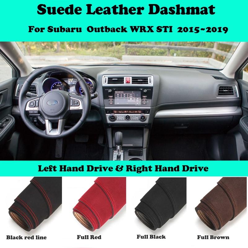 For Subaru Outback WRX STI 2015 2016-2020 Suede Leather Dashmat Dashboard Cover Pad Dash Mat Car-Styling Accessories LHD RHD