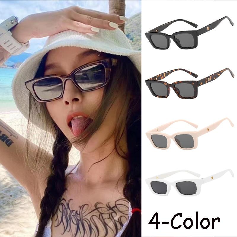 Square Cat Eye Sunglasses Men Women Sexy Vintage Famous Brand Designer Large Frame Sun Glasses UV400