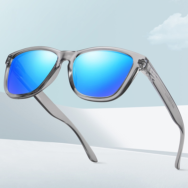 HEISKING 2021 Fashion Polarized Sunglasses For Men Women Male Driving Fishing Square Sun Glasses UV4