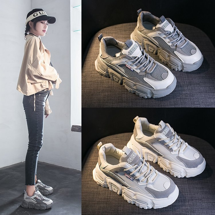 سوبر الساخن أحذية نسائية ربيع جديد تنفس كل مباراة الكورية نمط أحذية رياضية النساء Ins طالب احذية الجري