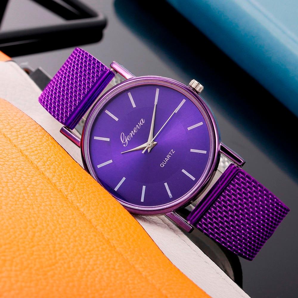 Reloj de cuarzo para mujer 2020, reloj de cristal azul de alta gama resistente al agua, distinguida zegarek damski