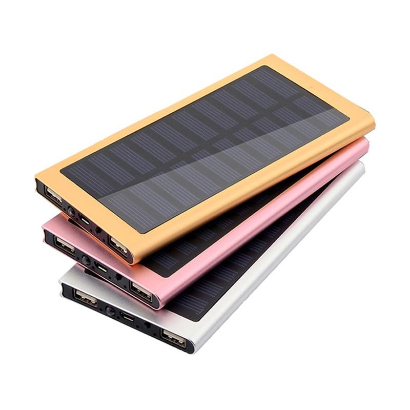 Solar Power Bank Solar Charger USB Ports External Charger Powerbank Case DIY Box Dual USB Kit Phone Charger Flashlight