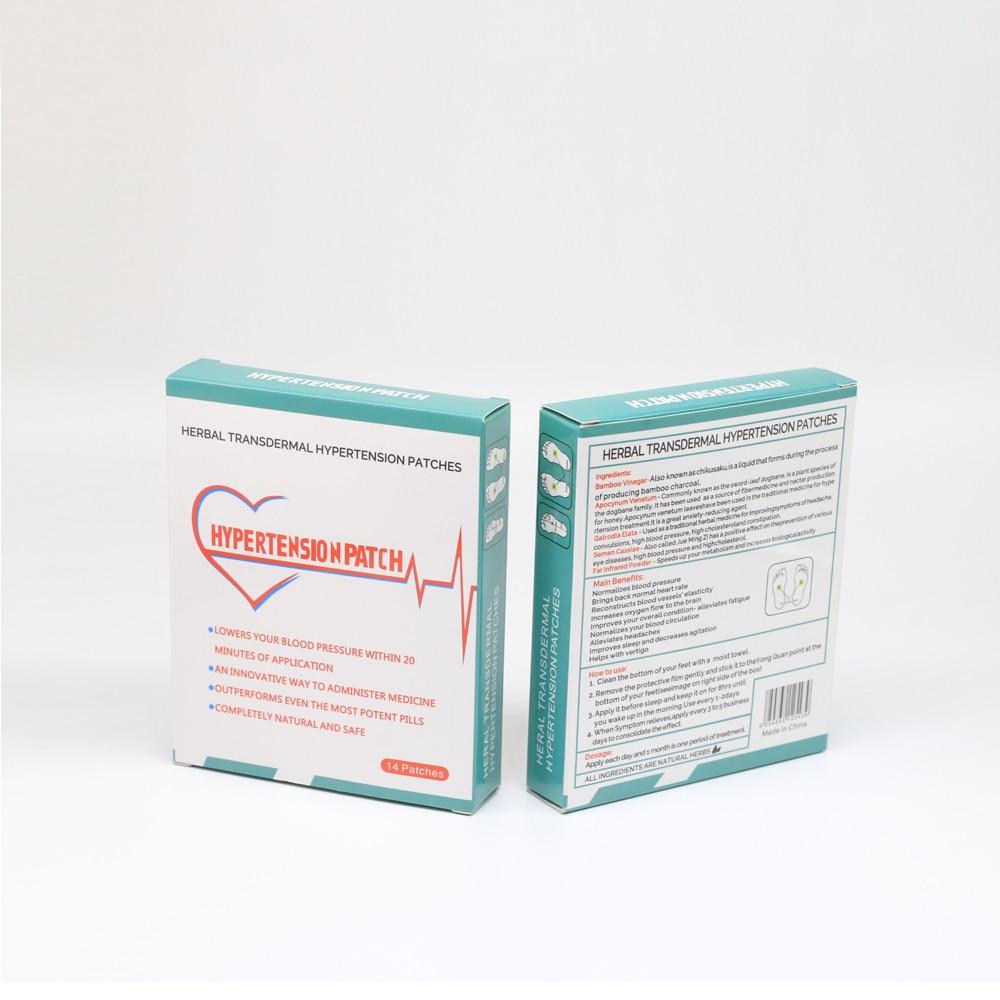2 caixas = 28 pçs/lote alta qualidade pressão arterial-lowing remendo para curar a hipertensão