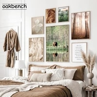 natural landscape canvas painting forest grass poster sunrise art prints nordic posters country photography aesthetic room decor