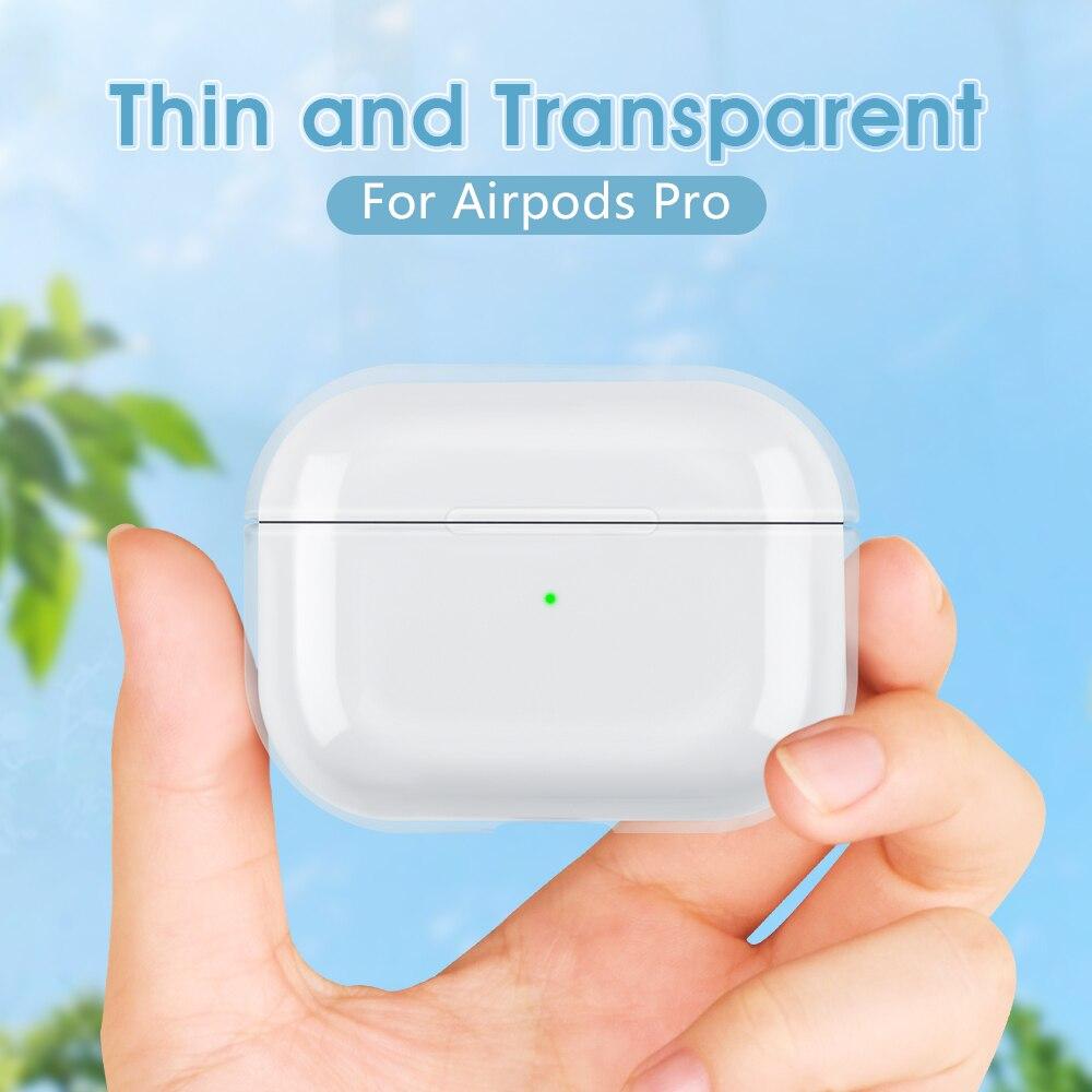 Fundas para AirPods Pro auricular transparente para Apple Air Pods Pro caja de carga cristal duro funda transparente para Airpods 3 Skin