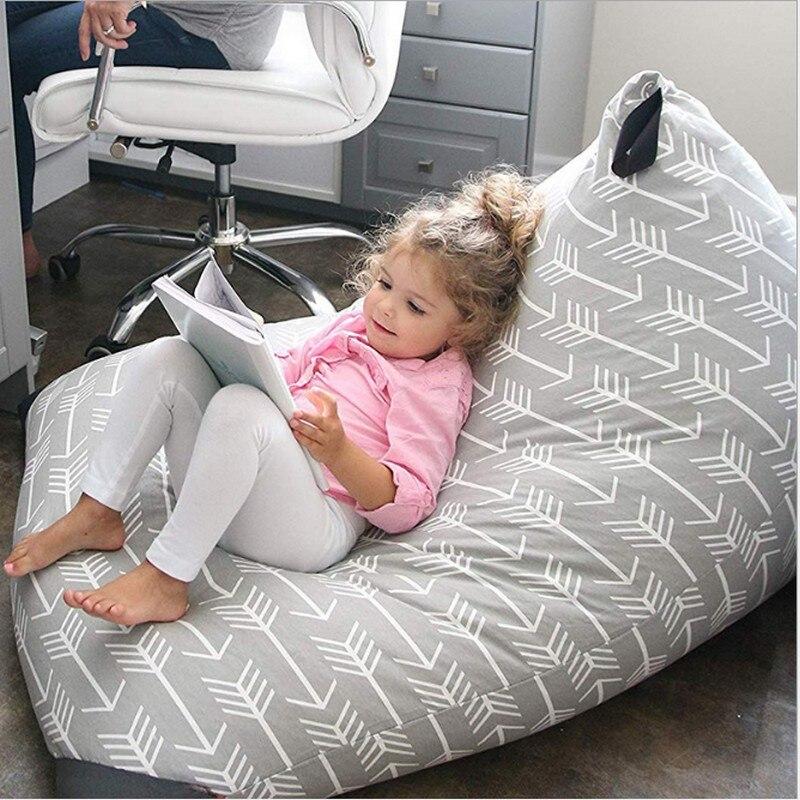 Balancín clásico de flecha para bebés y organizador de juguetes de peluche para niños bolsa de almacenamiento para niños asiento para niños sofá de sala de estar silla perezoso cubierta