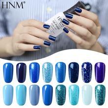 Гель-лак HNM для ногтей серии Blue Color, набор полуперманентных лаков для маникюра, 8 мл