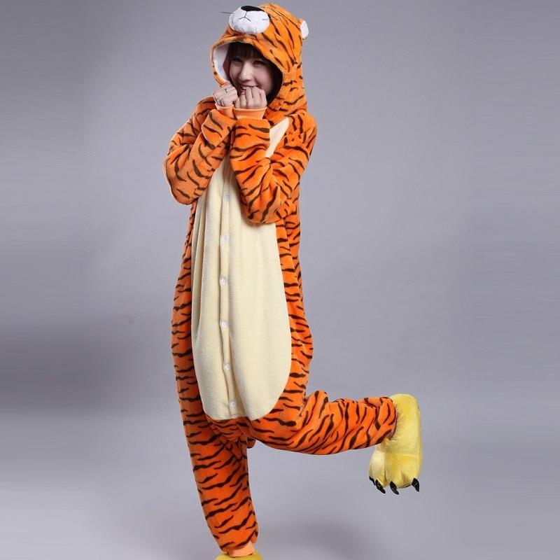 Kigurumi Tigre mono hombres combinaison pijama adulto de franela caliente onisie onepiece pijamas de animales kugurumi onesies para adultos