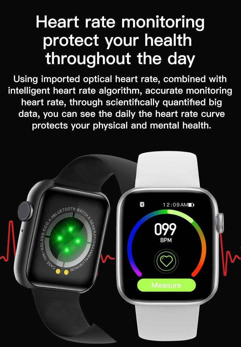 """H2841b911bdac4cc98daffceb2f3146d1F 2021 IWO 13 MAX Smart Watch T500+ plus 1.75""""HD Bluetooth Calls Custom Wallpaper Heart Rate Monitor Sport Smartwatch PK W46 W26"""