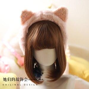Princess sweet lolita earmuff Autumn and winter Korean and Japanese fashion cat ear earmuff sweet lovely girl earmuff GSH239