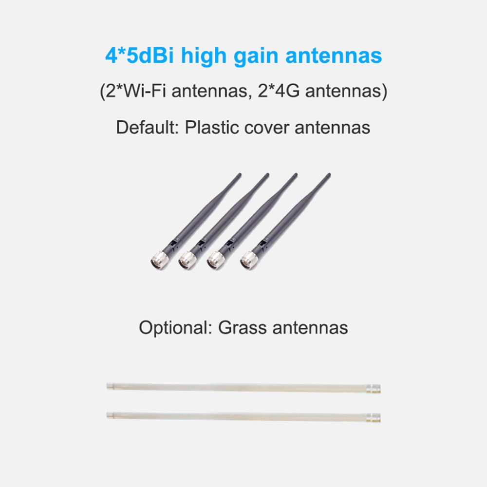 Chipset QCA9531 4G SIM Card Portable Wireless Router High Speed Outdoor POE 4G LTE Wireless AP Wifi Router FRP antenna 8dbi enlarge