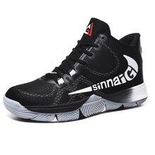 Mode hommes chaussures de basket-ball léger chaussures de course chaussures de sport en plein air respirant maille confortable chaussures de basket-ball coussin dair