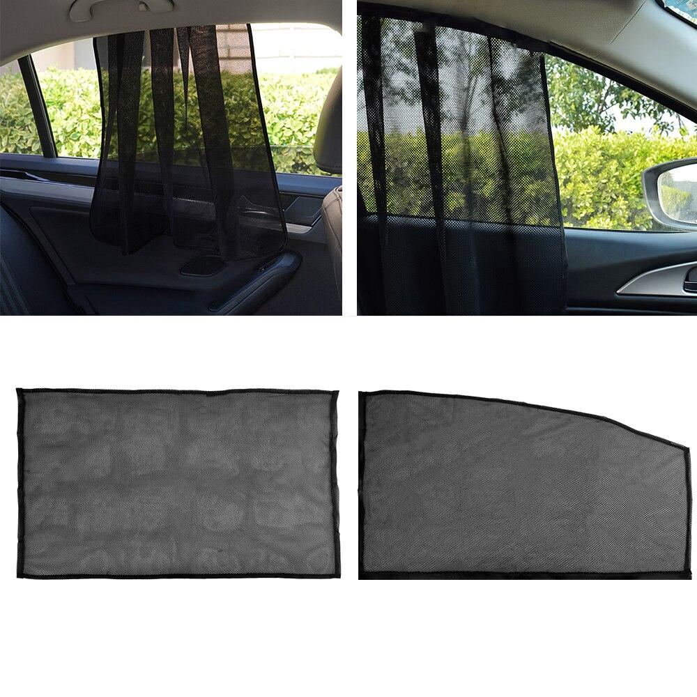 LEEPEE, 2 piezas, parasol magnético para ventana, ventana frontal, trasera, lateral, protección UV, parasol de coche, cortinas de coche, protección UV
