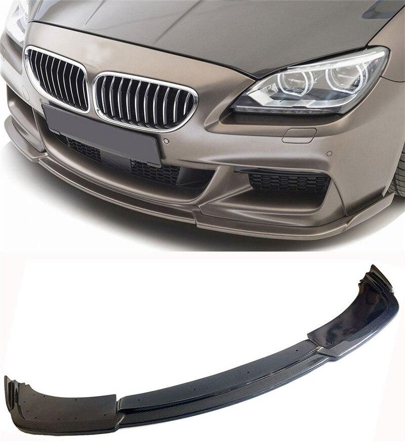 Alerón delantero de fibra de carbono estilo H para BMW Serie 6 F06 F12 F13 m-sport